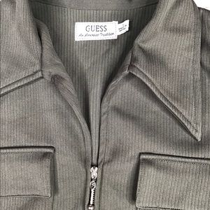 Guess Jackets & Coats - Guess Cropped Olive Green Jacket Small
